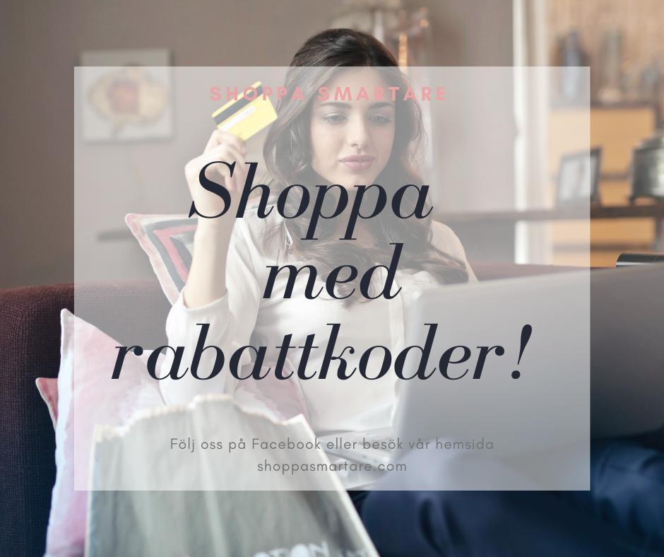 De senaste rabattkoderna hos Shoppa smartare